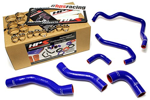 89-95 Toyota Pickup 22RE Non Turbo EFI LHD HPS Blue Silicone Radiator + Heater Hose Kit Coolant (Toyota Pickup Turbo compare prices)