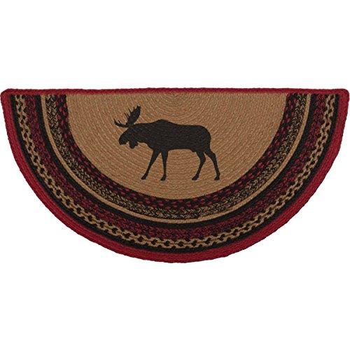 VHC Brands 37867 Rustic & Lodge Flooring-Cumberland Tan Half Circle Jute Rug, 1'4.5