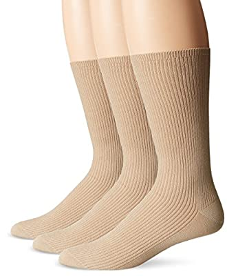 Calvin Klein Men's 3-Pack Non-Elastic Dress Crew Socks Sz: 10-13; Fits 7-12
