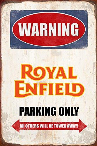 Alerta Royal Enfield aparcamiento Sólo Parque Schild Tin ...