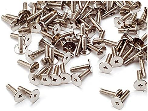 HH FASTENERS M3 Wafer Head Machine Screws,Laptop Screws,Head Dia.7mm,Metric,Right Hand,Pack of 50 M3 x 8mm