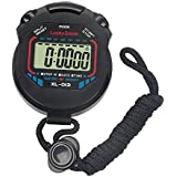 LuckyStone Digital Handheld Multi-Function Professional Electronic Chronograph Sports Stopwatch Timer Water-Proof Stop…
