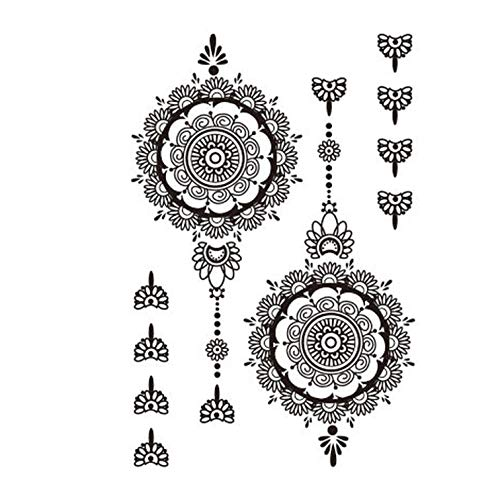 1 Piece Black Temporary Tattoo for Hands Inspired