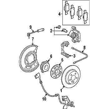 Amazon com: Mercedes-Benz 204 540 03 17, ABS Wheel Speed Sensor