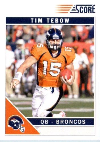 Tim Tebow Football (2011 Score Football Card #92 Tim Tebow - Denver Broncos - NFL Trading Card)