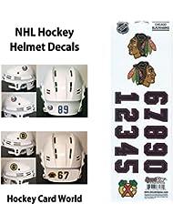 (HCW) Chicago Blackhawks SportsStar NHL Hockey Helmet Decals Sticker Sheet