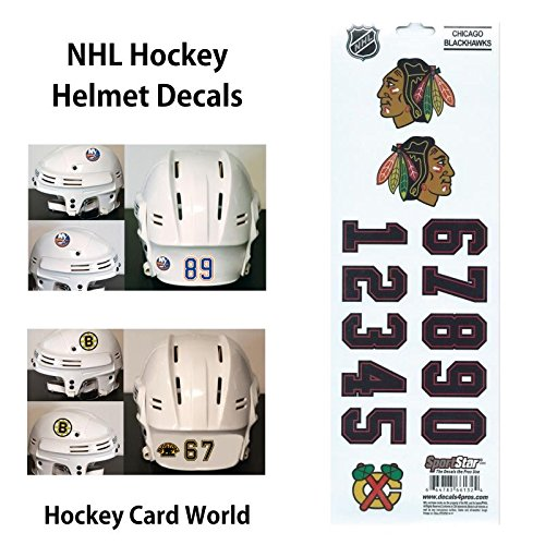 (HCW) Chicago Blackhawks SportsStar NHL Hockey Helmet Decals Sticker Sheet ()