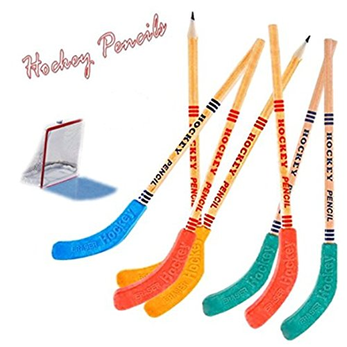 Award Eraser (Play Kreative Hockey Pencils and Erasers - Pack of 12 Kids Assorted Hockey Pencil & Blade Eraser Party Favors Sets, Sports Giveaway)