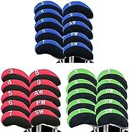 Golf Iron Head Covers Neoprene with Numbers Printed Value 10 Pcs/Set, Headcovers Zipper Waterproof Durable Por
