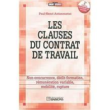 CLAUSES DU CONTRAT DE TRAVAIL (LES) 2E ÉDITION