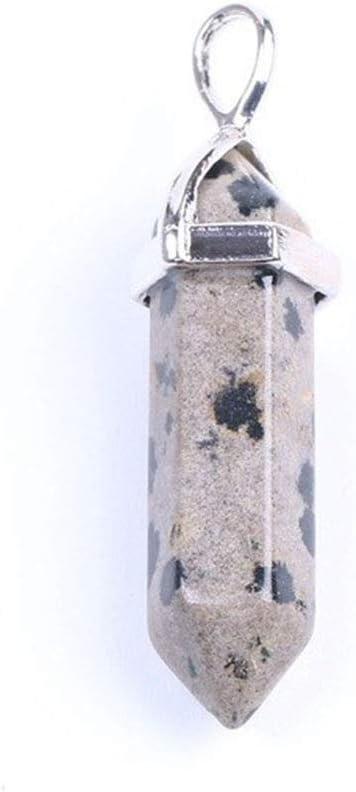 Reiki Cristal, cristal púrpura en forma de balas de piedra natural colgante, hombres y mujeres Chakra Gem curación de cristal de cuarzo colgante de regalos de la decoración del hogar Colección Accesor