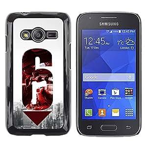 TopCaseStore / la caja del caucho duro de la cubierta de protección de la piel - 6 Gun - Samsung Galaxy Ace 4 G313 SM-G313F