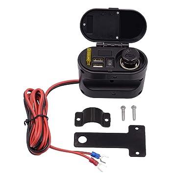SryWj Distribuidor De Enchufes para Automóvil 12V / 24V con Puerto USB Doble Adaptador De Teléfono Móvil ...