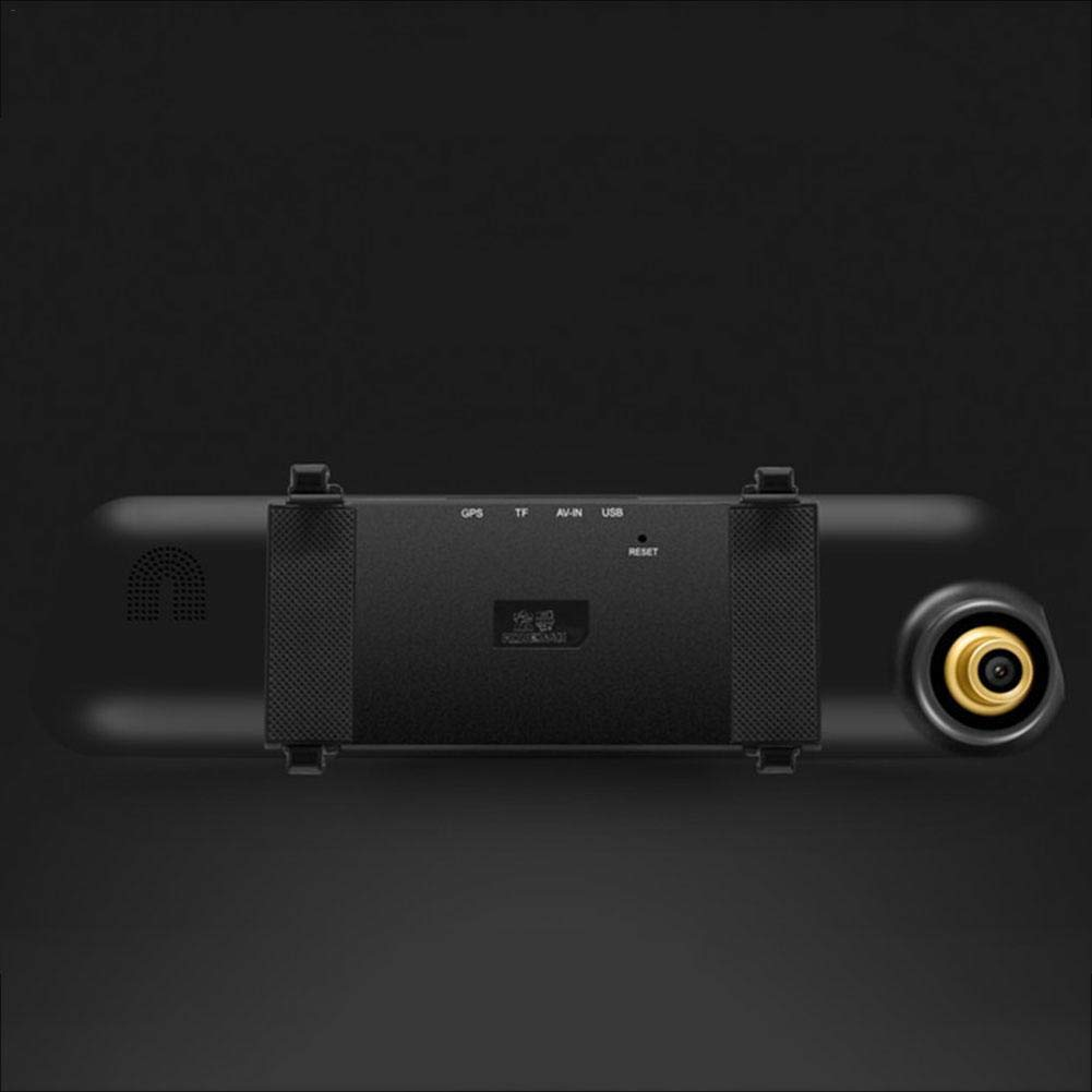 Dream-cool Mirror Dash Cam 1080P Dual Lens Touchscreen da 4,3 Pollici Dual Lens Specchietto retrovisore Telecamera Dash Board per Auto Telecamera Dashboard Car DVR Recorder G-Sensor Parking Normal