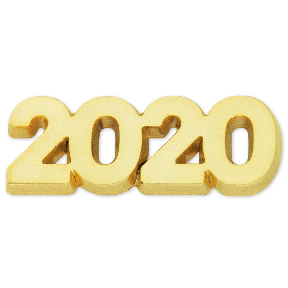 New Years Anniversary Lapel Pin Graduation PinMart Gold Year 2020 School