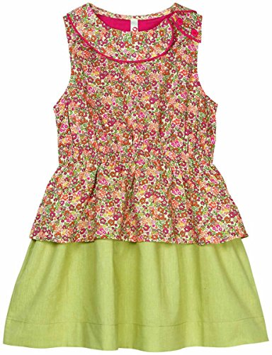 Girls Sleeveless Dress with Flare Joint - Pink (4-5 Y)