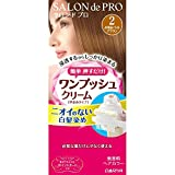 SALON DE PRO One Push Cream Hair Color, No. 2 Lightest Brown, 80 Gram