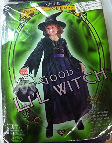 Bday Parties Good Lil Witch Girl Dress Costume S 4-6 ()
