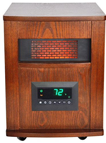Lifesmart 6 Element Quartz W Wood Cabinet And Remote Large