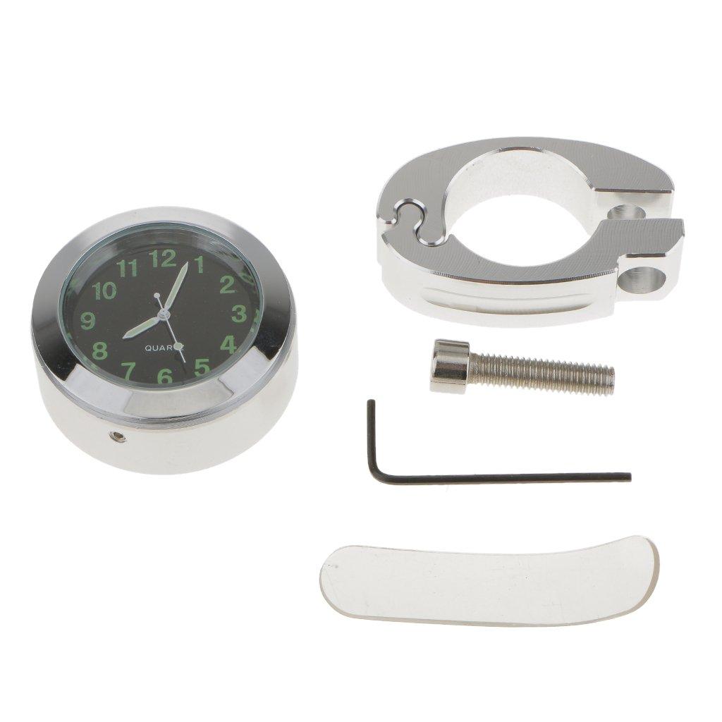 Horloge Moto Vélo Chromé Guidon Montage Imperméable Pour Honda Générique