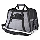 Creaker Pet Travel Carrier for Small Dogs Cats up to 13Ib