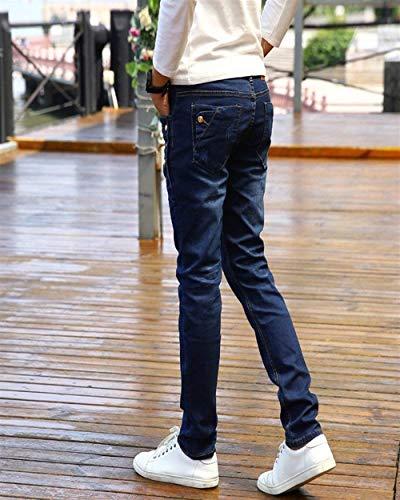 Denim Jeans Strech Uomo Fit Morbido Eleganti Skinny Aderenti In Slim Blau Da Vintage Pantaloni r6rfYqZ