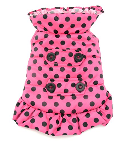 SMALLLEE LUCKY STORE Petmall Fleece Hooded Trench