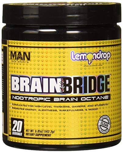 Man Sports Brainbridge Nootropic Brain Octane, Lemon Drop, 120 Gram