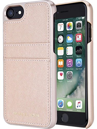 Michael Kors Saffiano Leather Pocket for Apple iPhone 7 4.7 - - Kors Mark