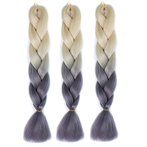 """Alay&me 24"""" 3Piece Jumbo Braid Extension Synthetic Ombre ..."""