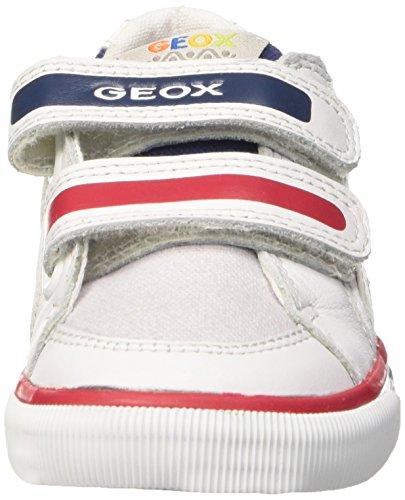 Geox B Kiwi Boy B, Zapatos Primeros Pasos para Bebés Multicolor (LT Grey / Navy)