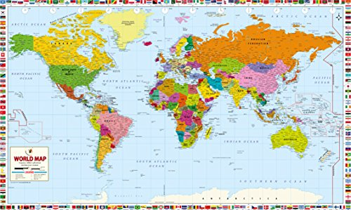 World Map Professional Edition - Paper (78'' W x 47'' H) by Maps of World
