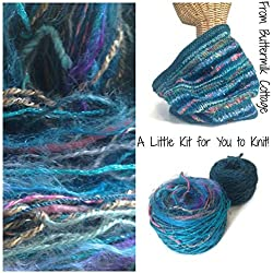 Buttermilk Cottage Boutique Yarn Cowl Knitting Kit Teal