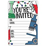 Science Party Invitations (20 Count) With Envelopes