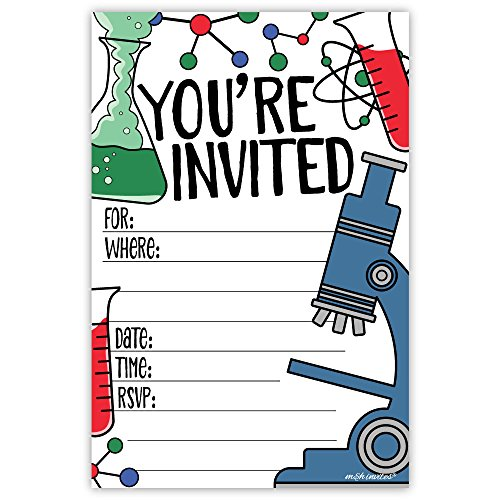 Science Party Invitations (20 Count) With -