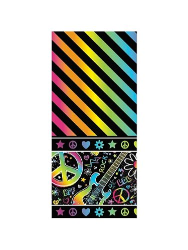 (Amscan Vibrant Neon Birthday Party Table Cover Tableware Decoration (1 Piece), 54