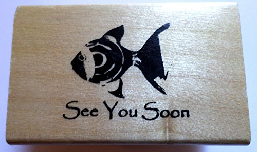 See You Soon Tropical Fish Anita's Wooden Rubber -
