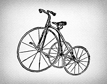 f44c60630f1 Vintage Tricycle Print Antique Wall Art & Home Decoration Antique Tricycle  Bicycle Print or Poster with