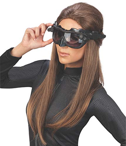 Dark Knight Rises Catwoman Goggles (Batman The Dark Knight Rises Deluxe Catwoman Goggles mask, Black, One)