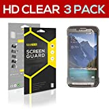 SOJITEK Samsung Galaxy S5 Active SM-G870A, SM-G860P, SM-G870W Premium Ultra Crystal High Definition (HD) Clear Screen Protector [3-Pack] - Lifetime Replacements Warranty + Retail Packaging