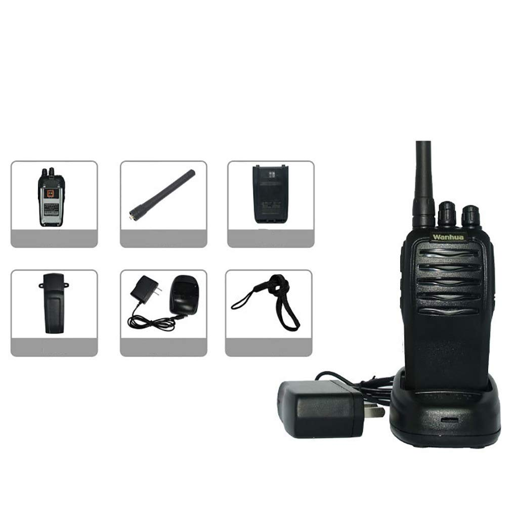 Nelc5kl Walkie Talkies Rechargeable Long Range Two-Way Radios with UHF 403-470Mhz Walkie Talkies 2200 mAh Li-ion Battery and Charger Included Radio (Size : E)