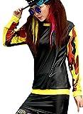 Pandalady Street Dance Kids Girls Stylish Womens Hip Hop PU Sweatshirt Funny Comic Print
