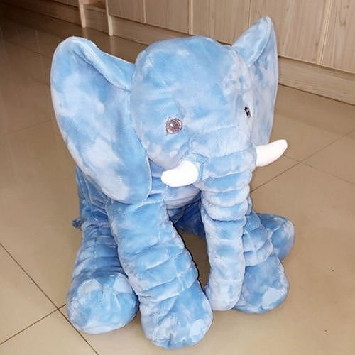 [Baby Kids Long Nose Elephant Doll Soft Plush Stuffed Toy Waist Throw Pillow Cute