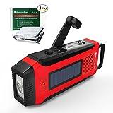 RunningSnail Emergency Solar AM/FM//NOAA Weather Radio - 3W LED Flashlight, SOS Alarm & 2000MAh Power Bank for Hurricane/Storm/ Earthquake/Camping/ Hiking - with Emergency Blanket