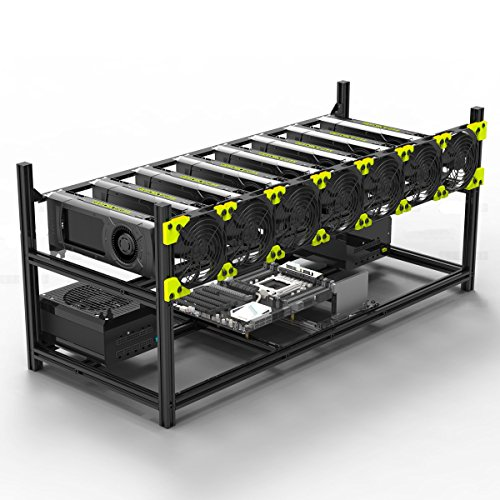 Aluminum GPU Mining Case Rig Open Air Frame For ETH/ETC/ ZCash (8 GPU) by Kyerivs (Image #7)