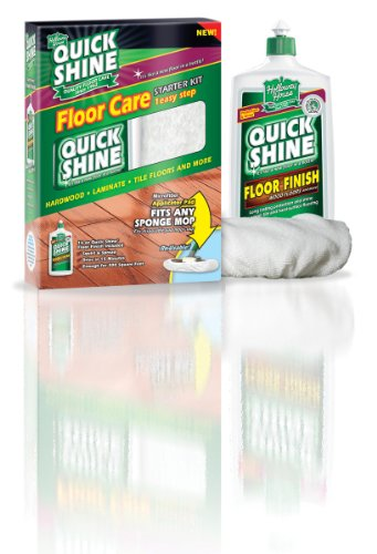 Quick Shine Starter Kit Contains One 16-Ounce Floor Finish and One Microfiber Bonnet (Quick Shine Floor)