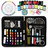 Norjews Sewing Kits, Over 145 Premium Sewing Supplies with Case, 38 Color Spools of Thread, 40 Quality Sewing Pins, Sewing Needles Accessories for Travel, Kids, Beginners, Emergency - Best Gift!