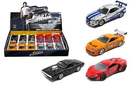 Jada ダイカストトイ カー1: 32ディスプレイ高速&Furious 詰め合わせ 4色 98674-Dp5 リテールボックスなし B079Q5LV6Q