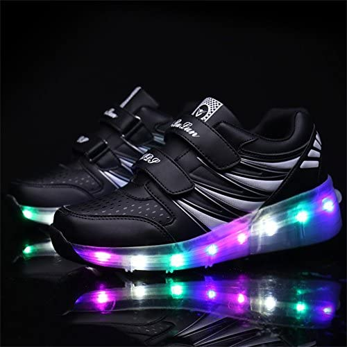 Ufatansy USB Charging Shoes Roller Shoes Girls Roller Skate Shoes Boys - 3