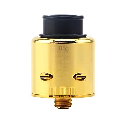 H&W Ziggs V2 RDA Tanque 810 Drip Tip Flavour Grande Vapeador Atomizador Dorado Sin Nicotina